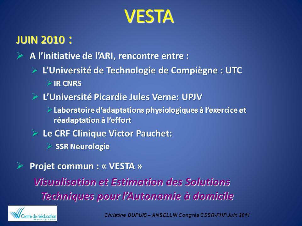 Christine DUPUIS – ANSELLIN Congrès CSSR-FHP Juin 2011