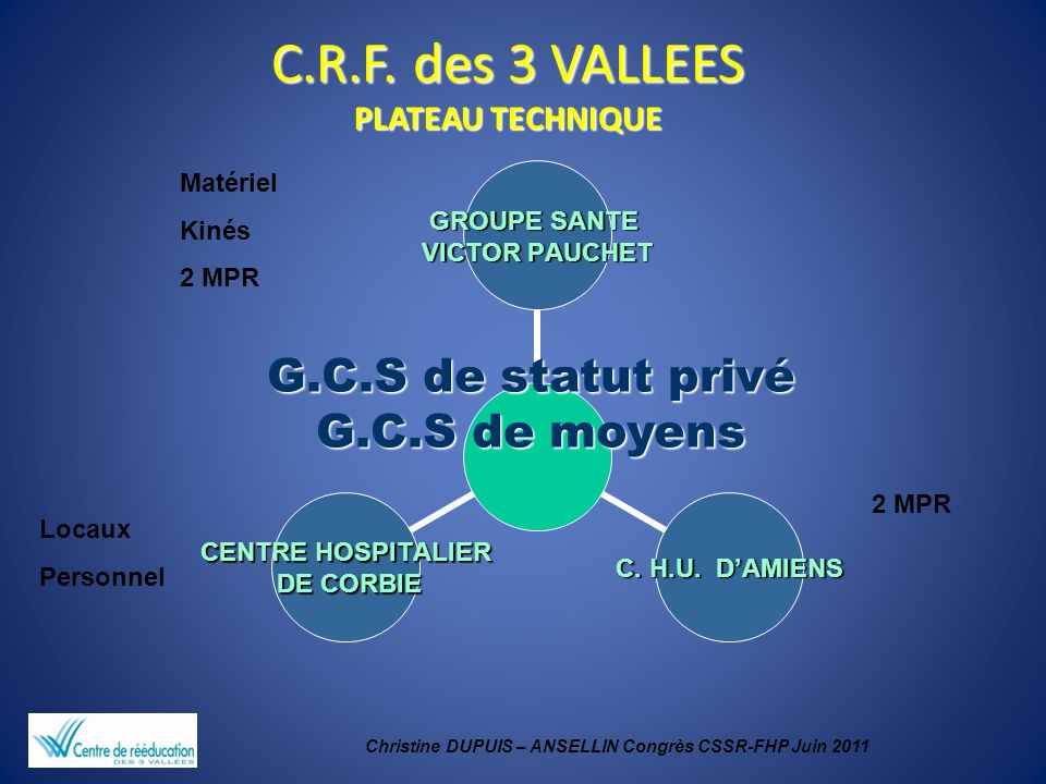 C.R.F. des 3 VALLEES PLATEAU TECHNIQUE