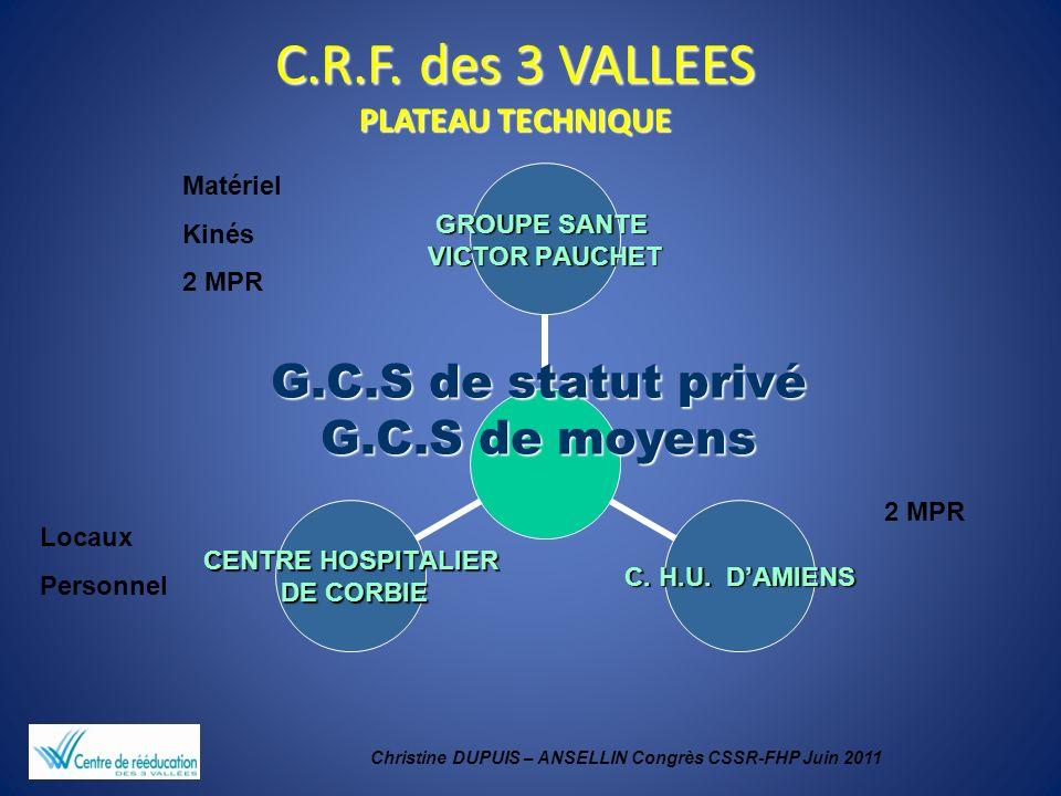 C.R.F. des 3 VALLEES PLATEAU TECHNIQUE