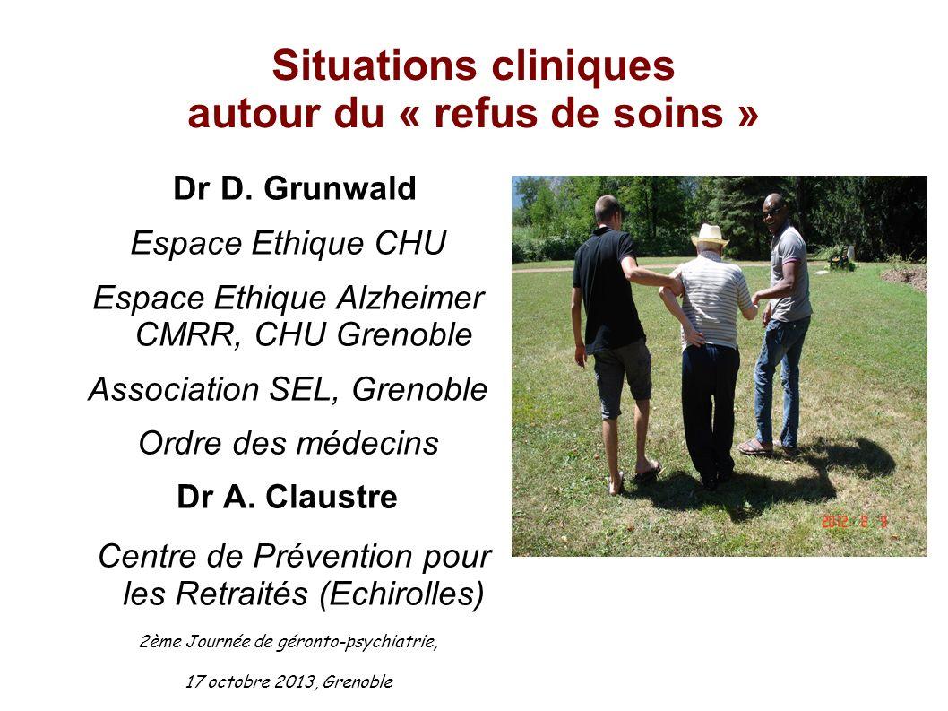 Situations cliniques autour du « refus de soins »
