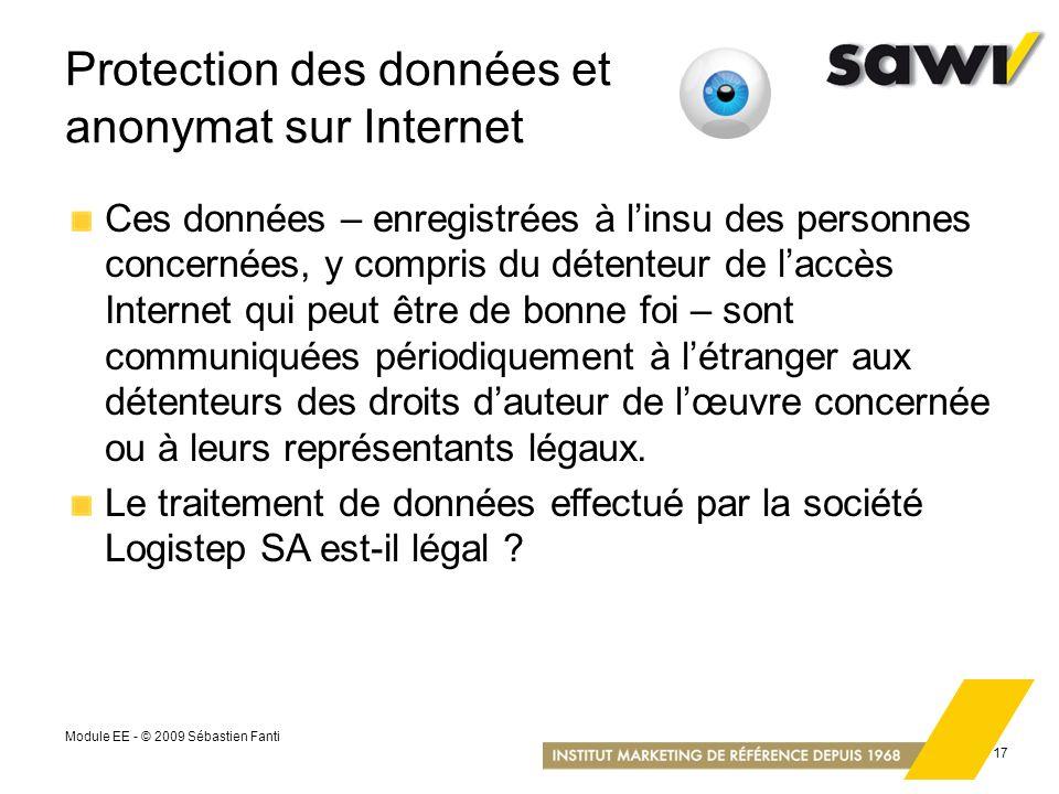 Protection des données et anonymat sur Internet