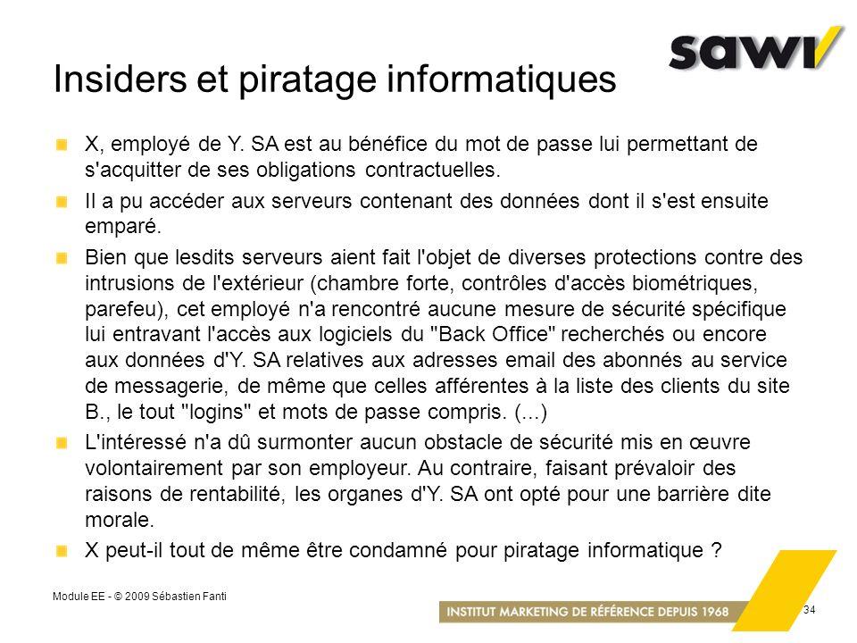 Insiders et piratage informatiques