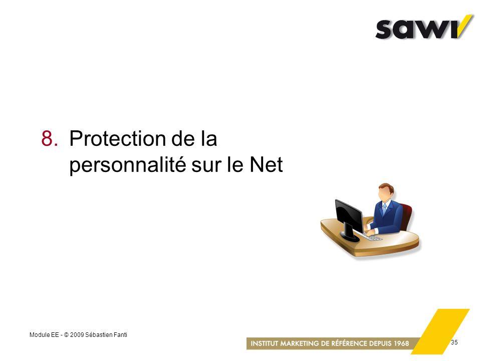 8. Protection de la personnalité sur le Net