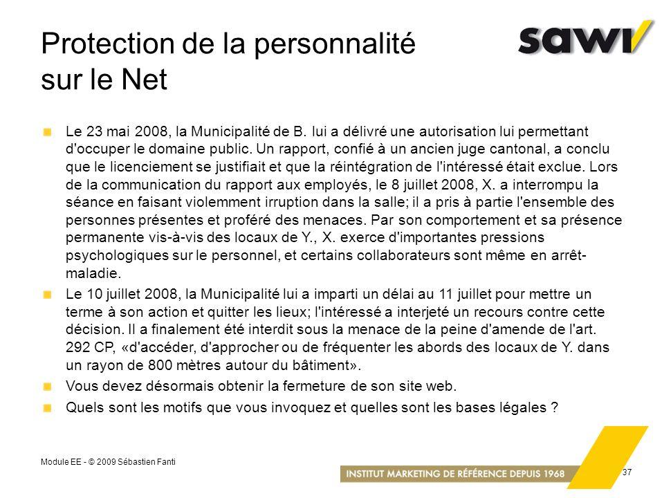 Protection de la personnalité sur le Net