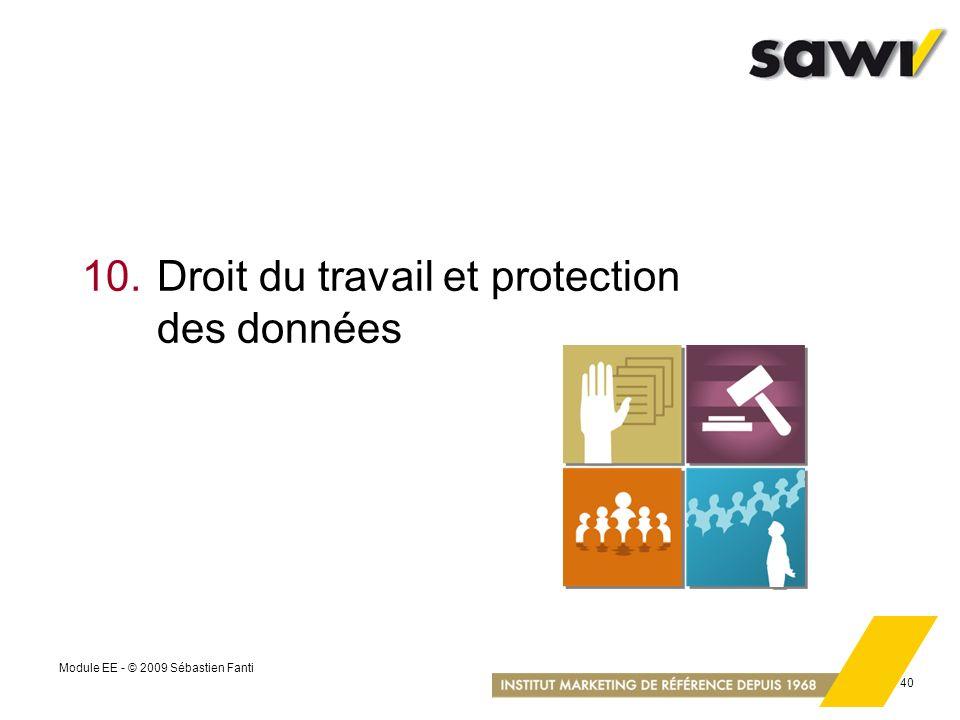 10. Droit du travail et protection des données