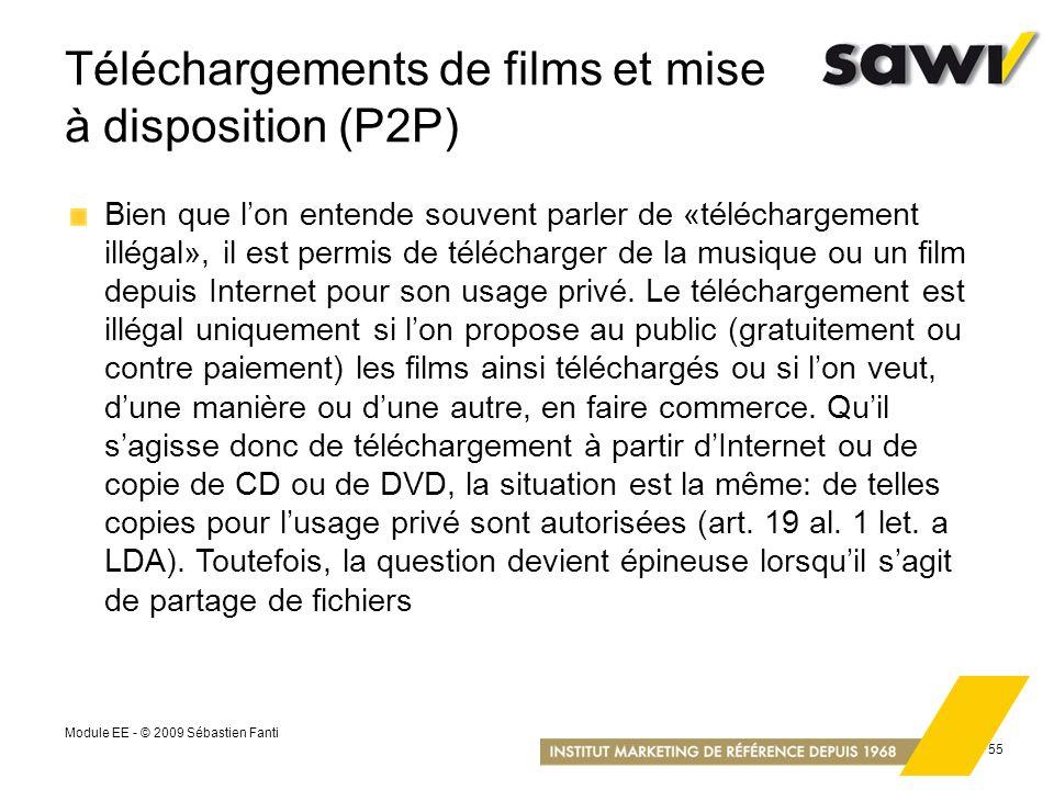 Téléchargements de films et mise à disposition (P2P)