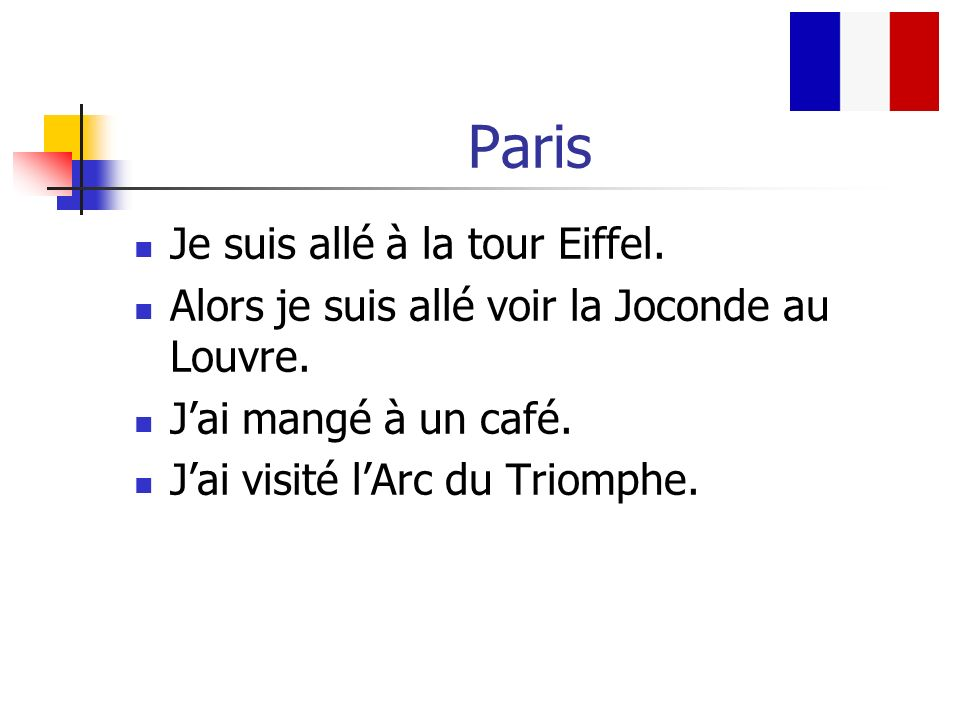 Paris Je suis allé à la tour Eiffel.