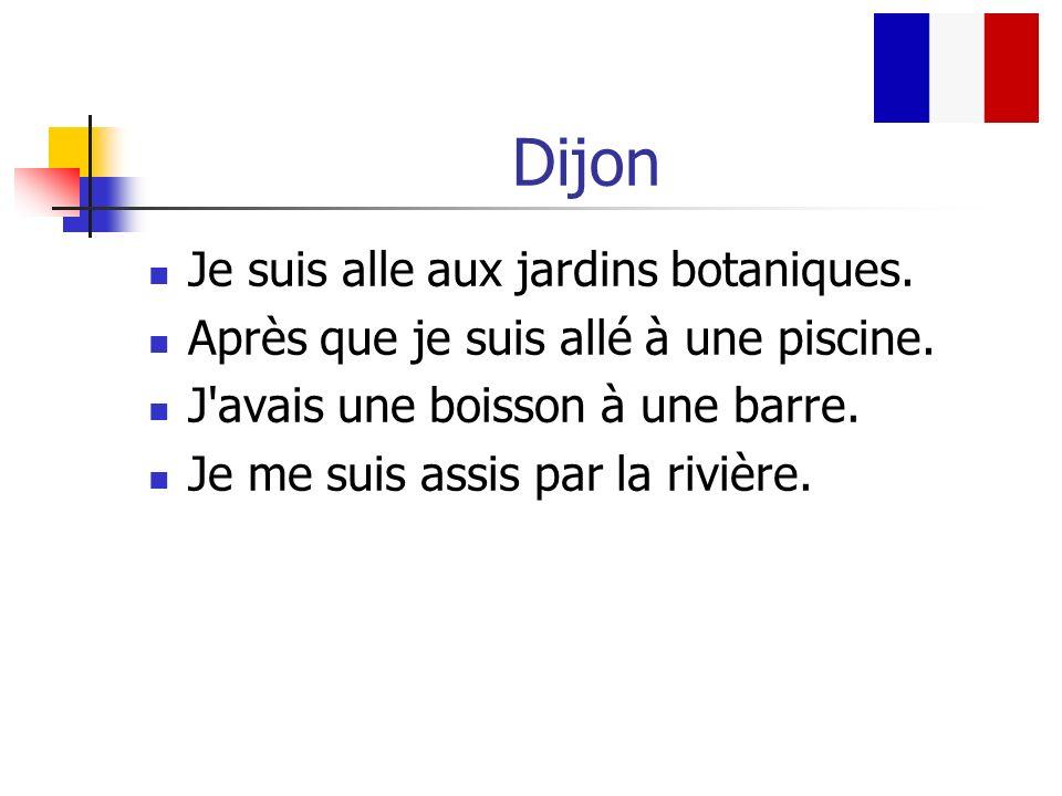 Dijon Je suis alle aux jardins botaniques.