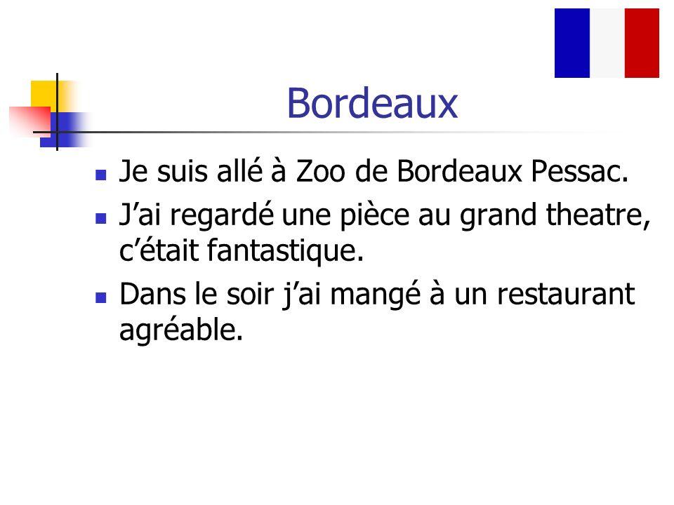 Bordeaux Je suis allé à Zoo de Bordeaux Pessac.