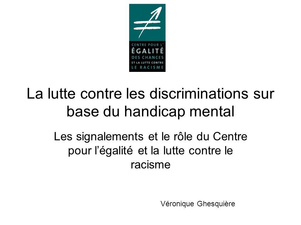 La lutte contre les discriminations sur base du handicap mental