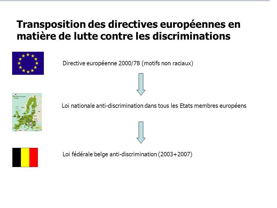 Transposition des directives européennes en matière de lutte contre les discriminations