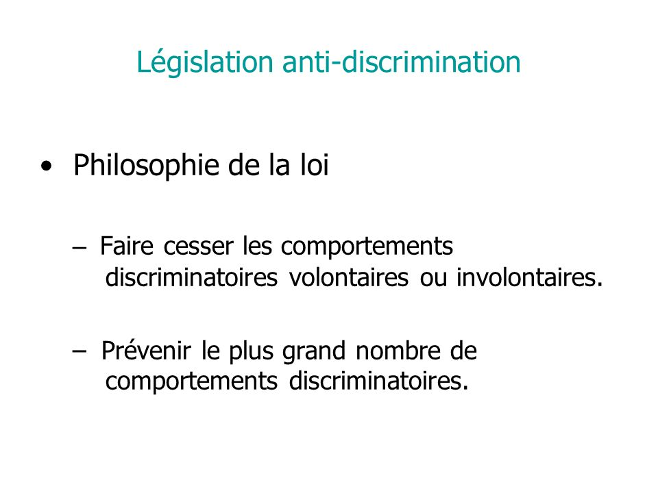 Législation anti-discrimination
