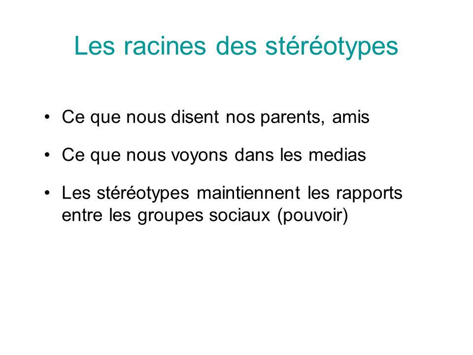 Les racines des stéréotypes