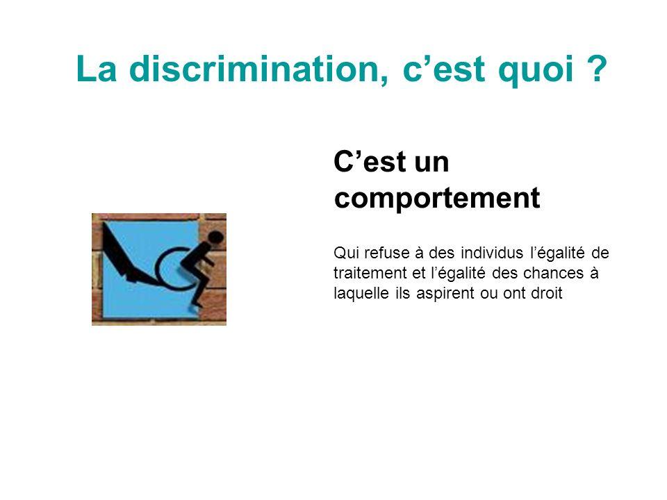 La discrimination, c'est quoi