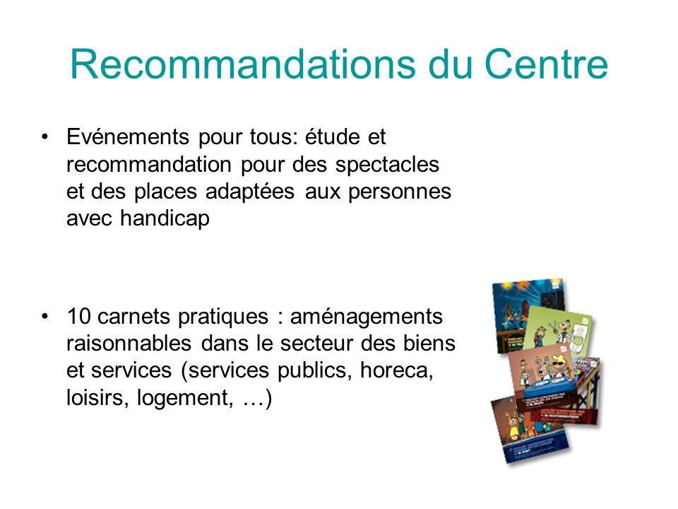 Recommandations du Centre
