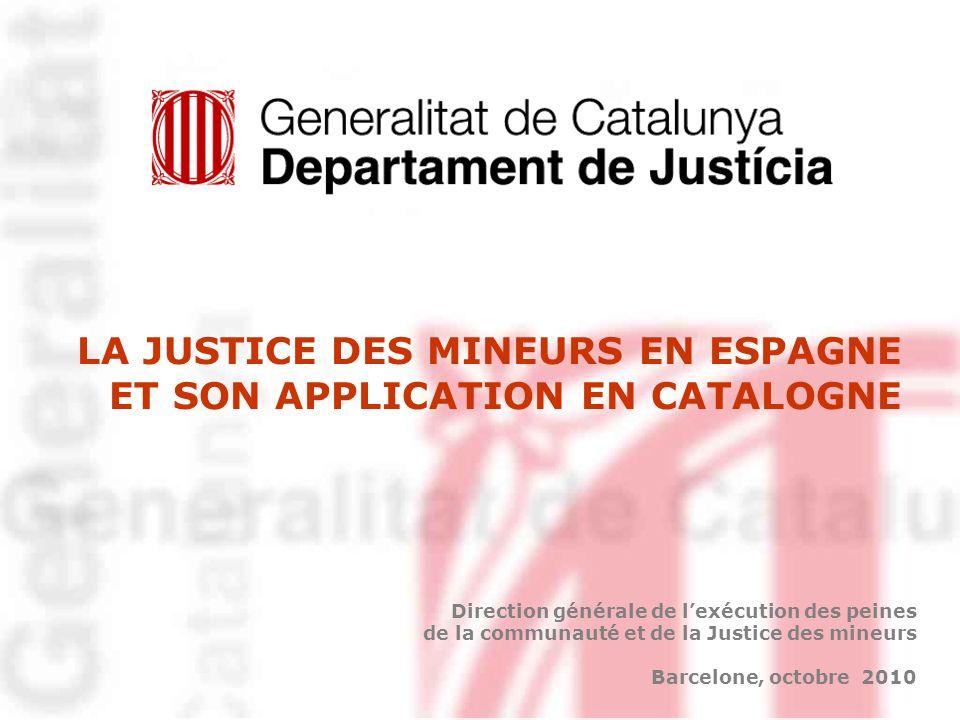 LA JUSTICE DES MINEURS EN ESPAGNE ET SON APPLICATION EN CATALOGNE