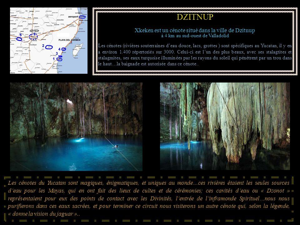 DZITNUP Xkeken est un cénote situé dans la ville de Dzitnup