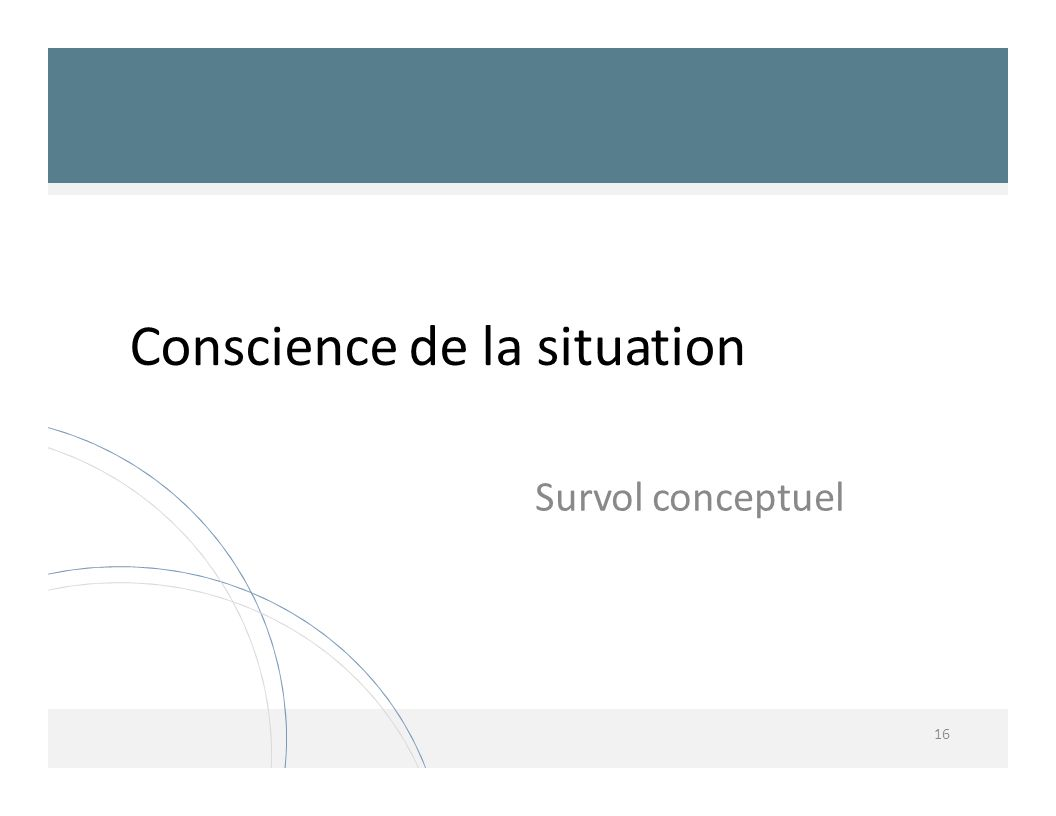 Conscience de la situation
