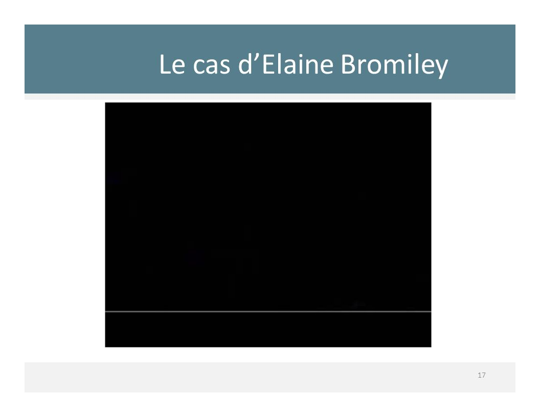 Le cas d'Elaine Bromiley