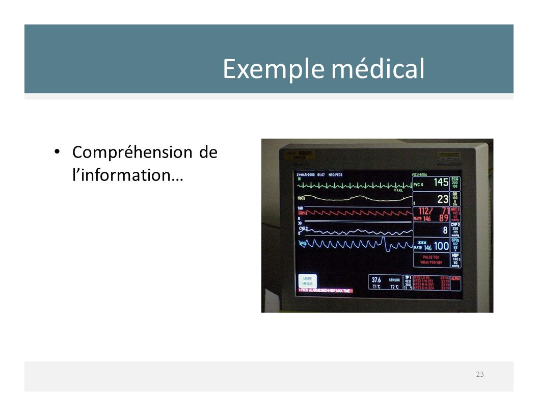 Exemple médical Compréhension de l'information…
