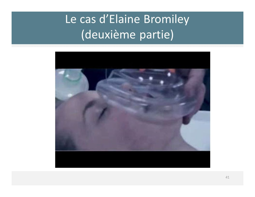 Le cas d'Elaine Bromiley (deuxième partie)