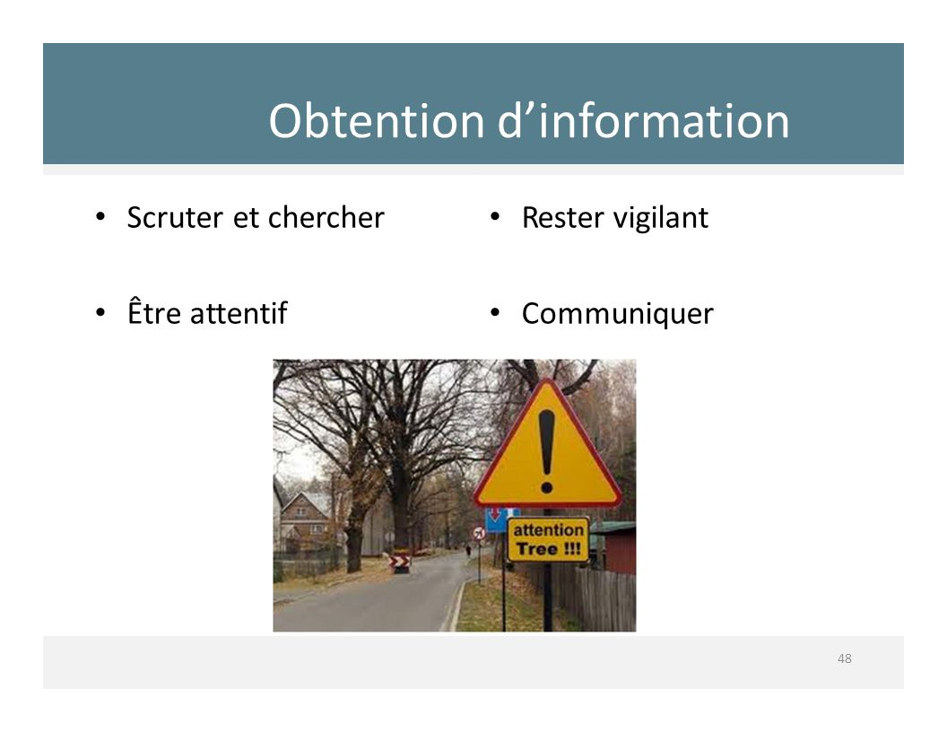 Obtention d'information