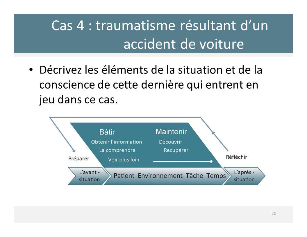 Cas 4 : traumatisme résultant d'un accident de voiture