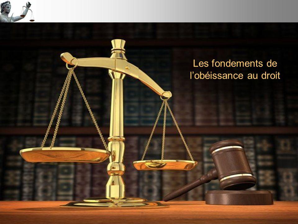 Les fondements de l'obéissance au droit