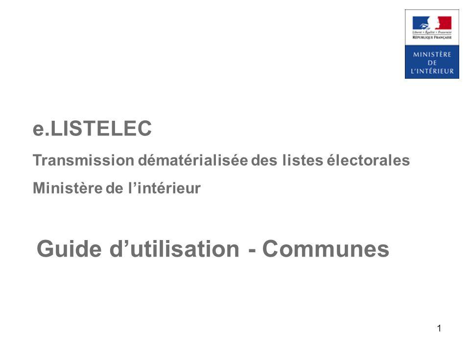 Guide d'utilisation - Communes