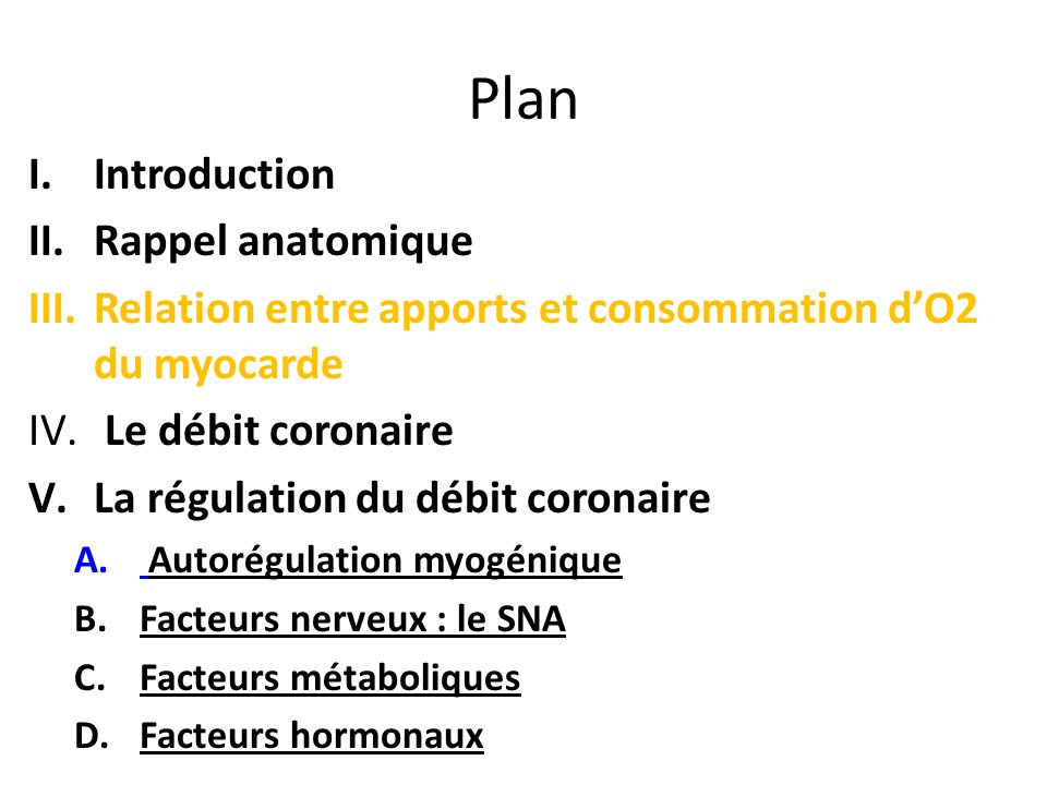 Plan Introduction Rappel anatomique