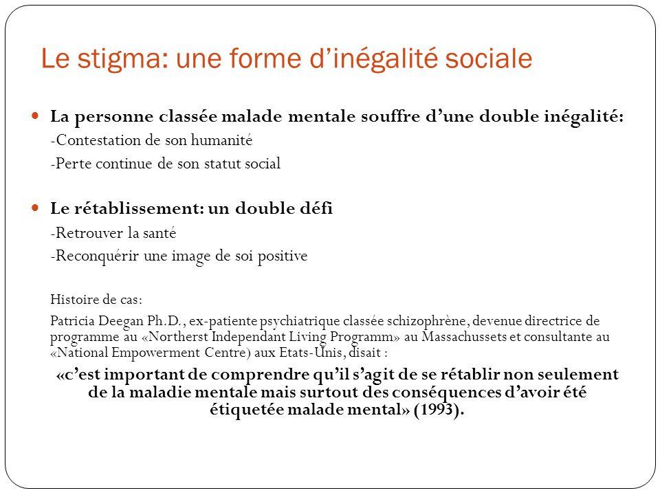 Le stigma: une forme d'inégalité sociale