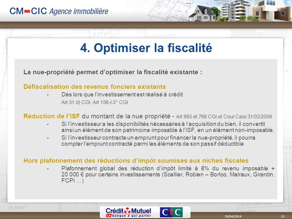 4. Optimiser la fiscalité