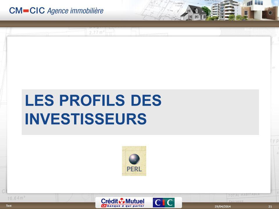 Les profils des investisseurs
