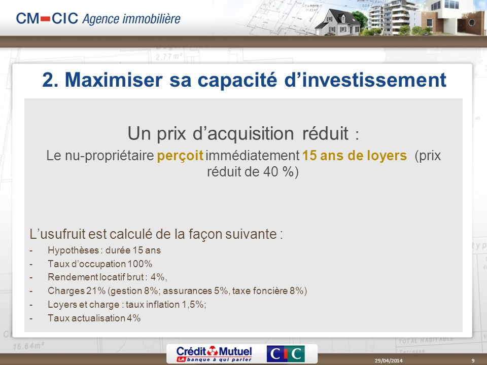2. Maximiser sa capacité d'investissement