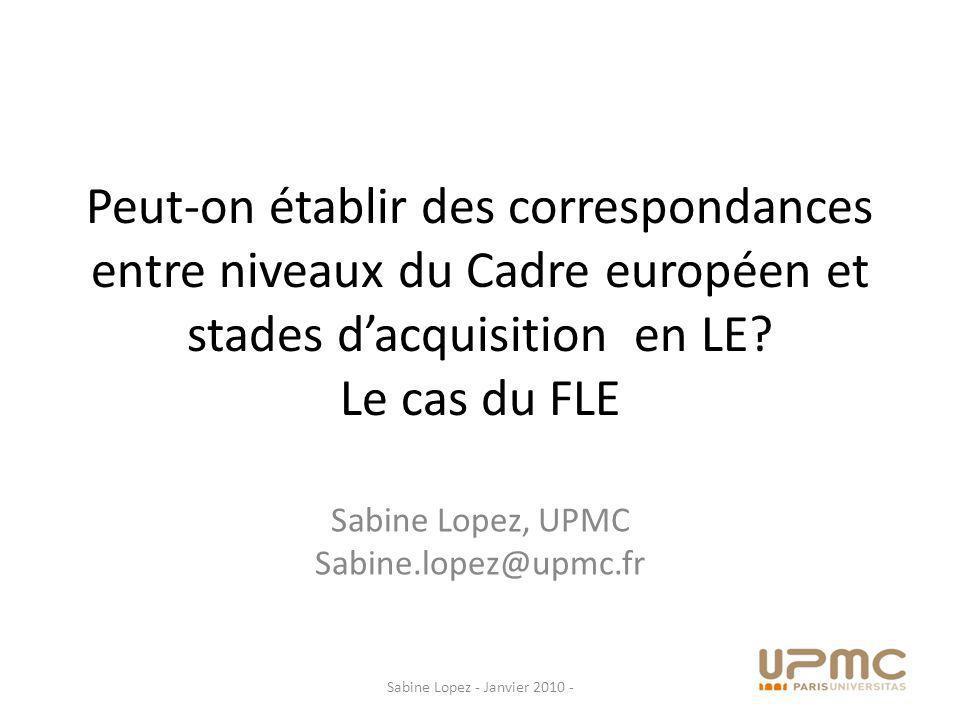 Sabine Lopez, UPMC Sabine.lopez@upmc.fr