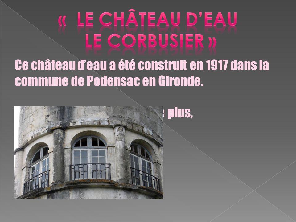 « le château d'eau Le Corbusier »