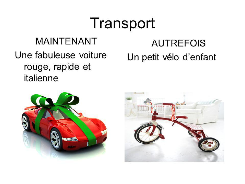 Transport MAINTENANT AUTREFOIS