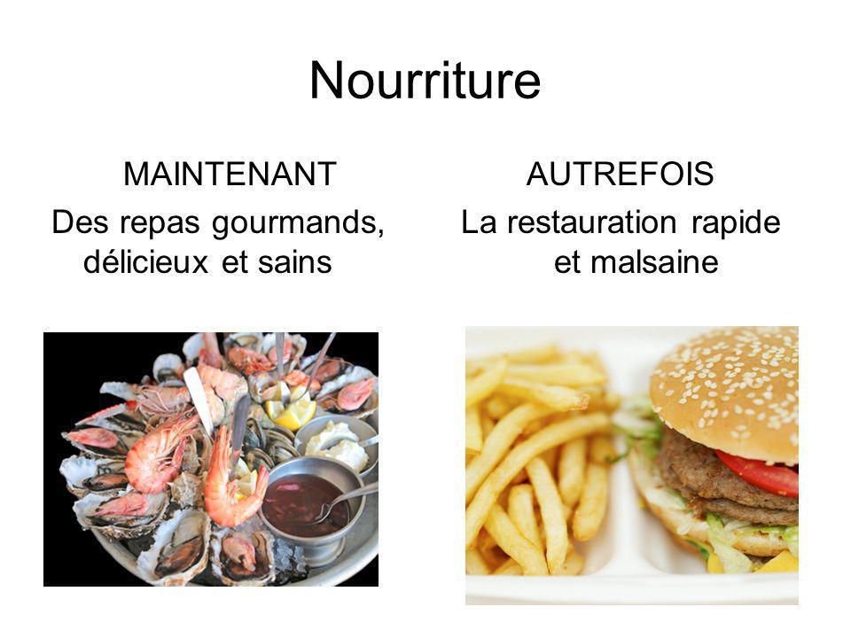 La restauration rapide et malsaine