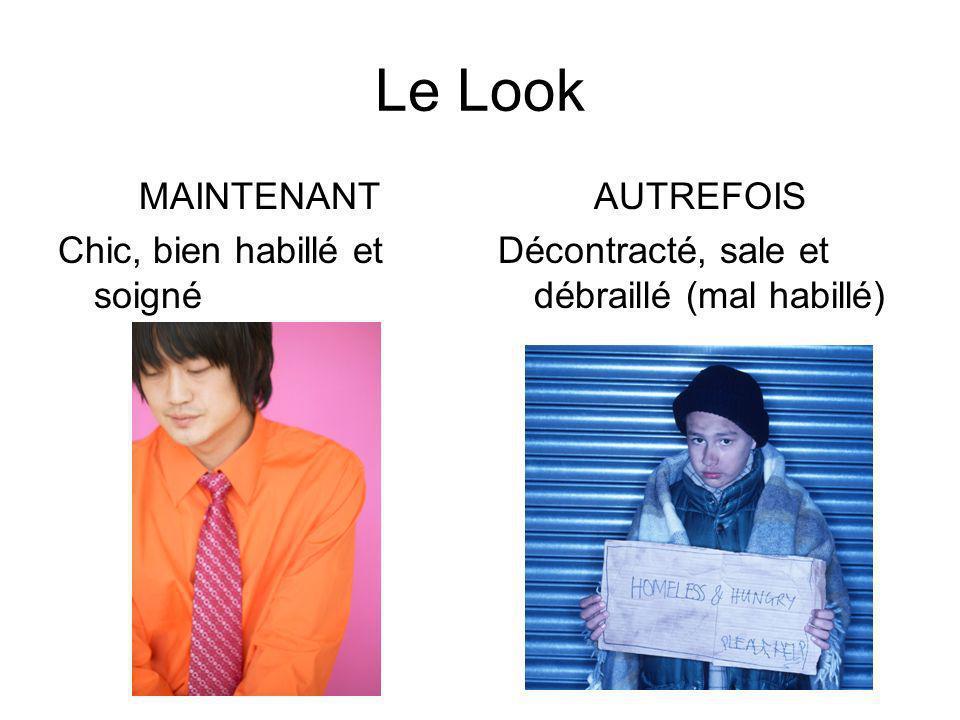Le Look MAINTENANT Chic, bien habillé et soigné AUTREFOIS