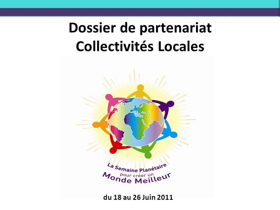 Dossier de partenariat Collectivités Locales