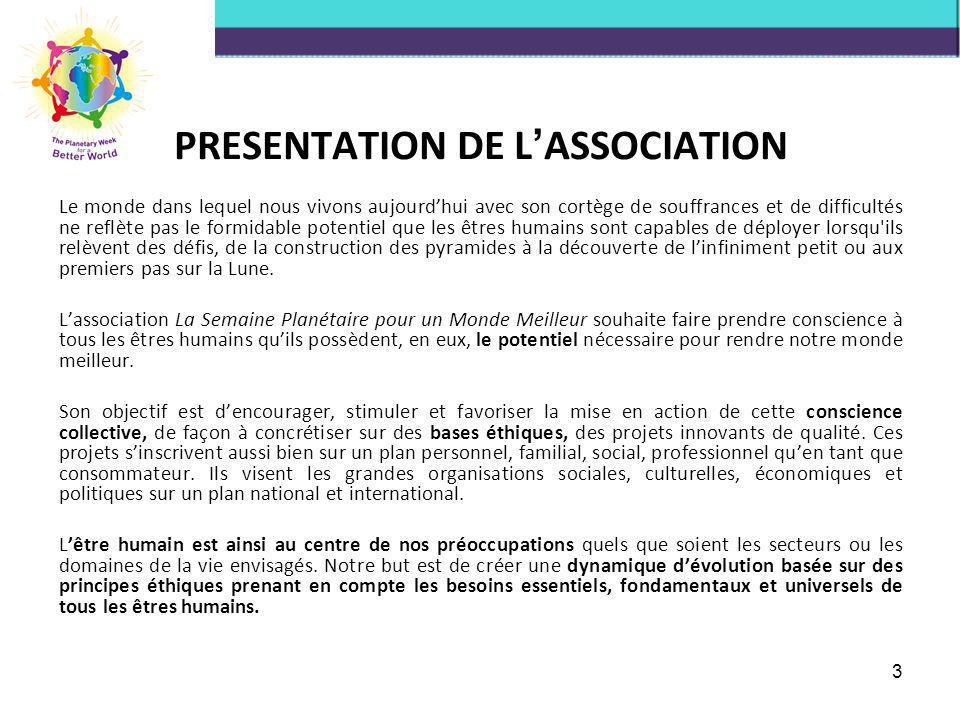 PRESENTATION DE L'ASSOCIATION