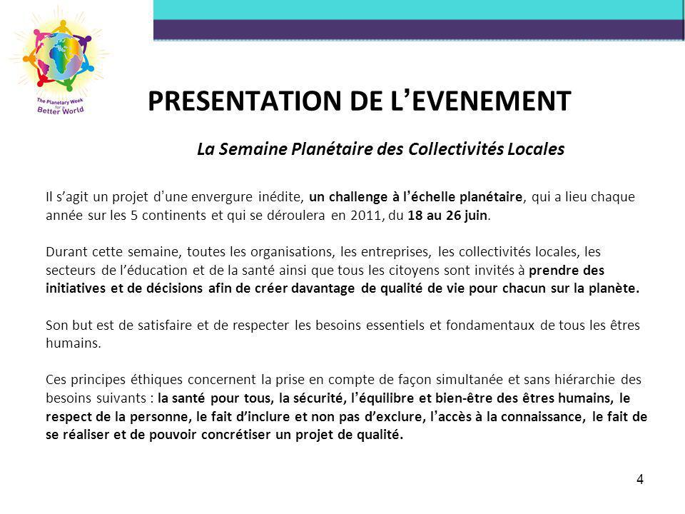 PRESENTATION DE L'EVENEMENT