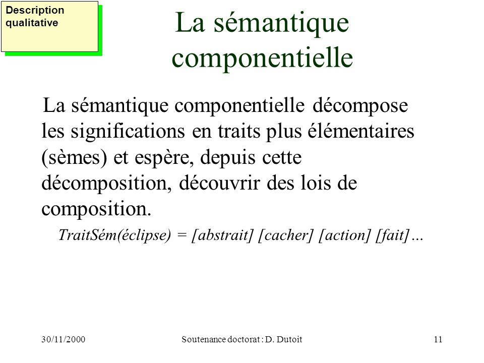 La sémantique componentielle