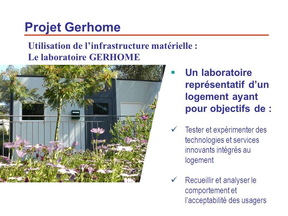 Projet Gerhome Utilisation de l'infrastructure matérielle : Le laboratoire GERHOME.