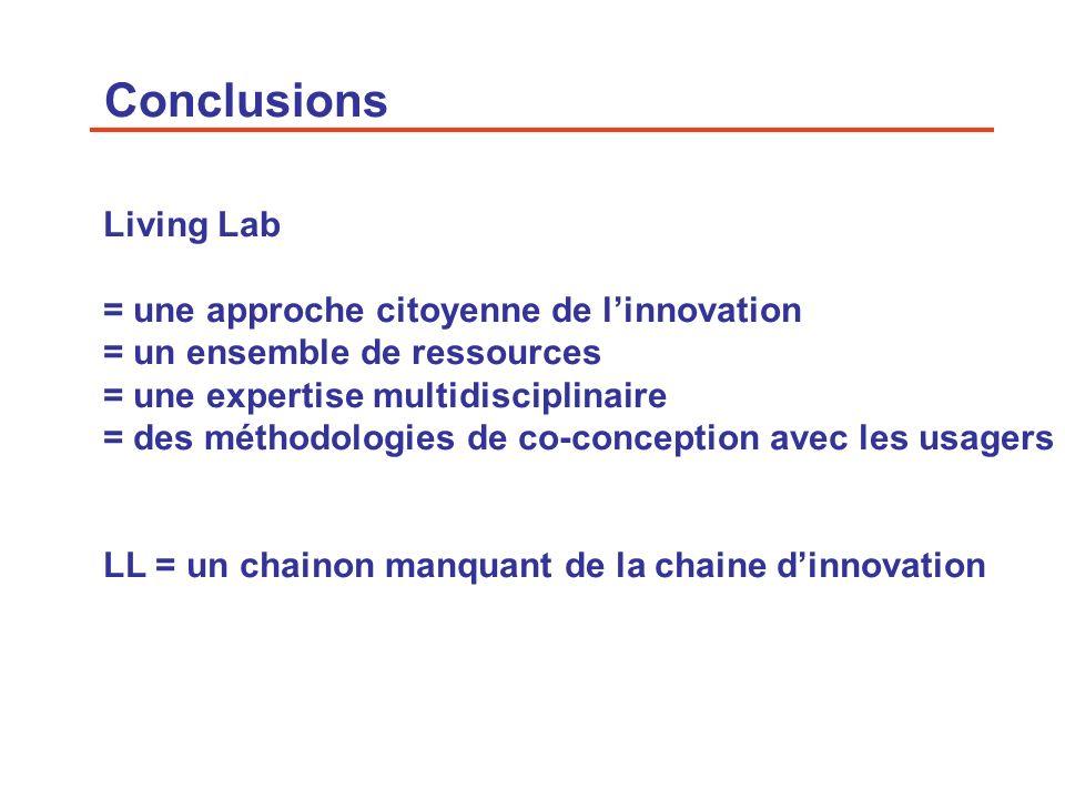 Conclusions Living Lab = une approche citoyenne de l'innovation