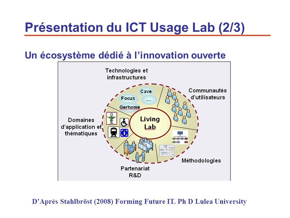 Présentation du ICT Usage Lab (2/3)