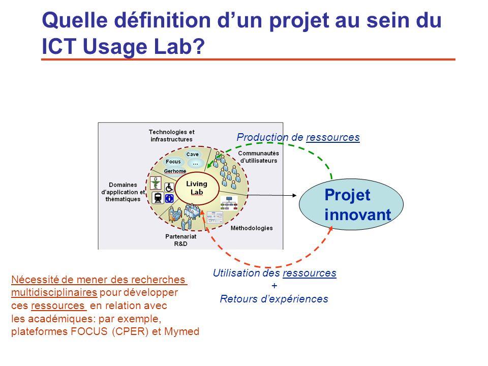 Quelle définition d'un projet au sein du ICT Usage Lab