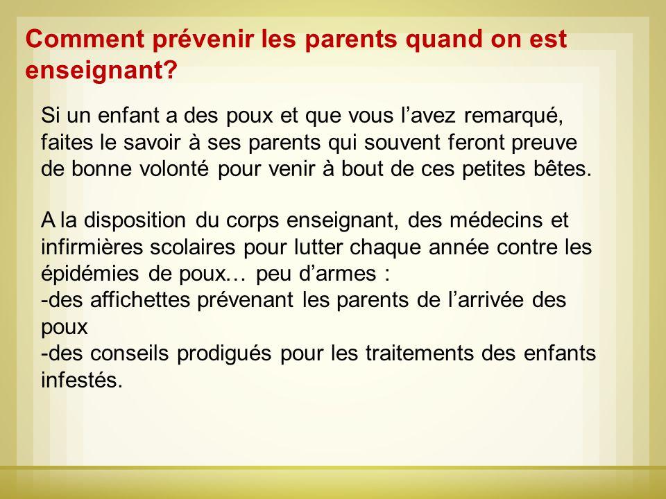 Comment prévenir les parents quand on est enseignant
