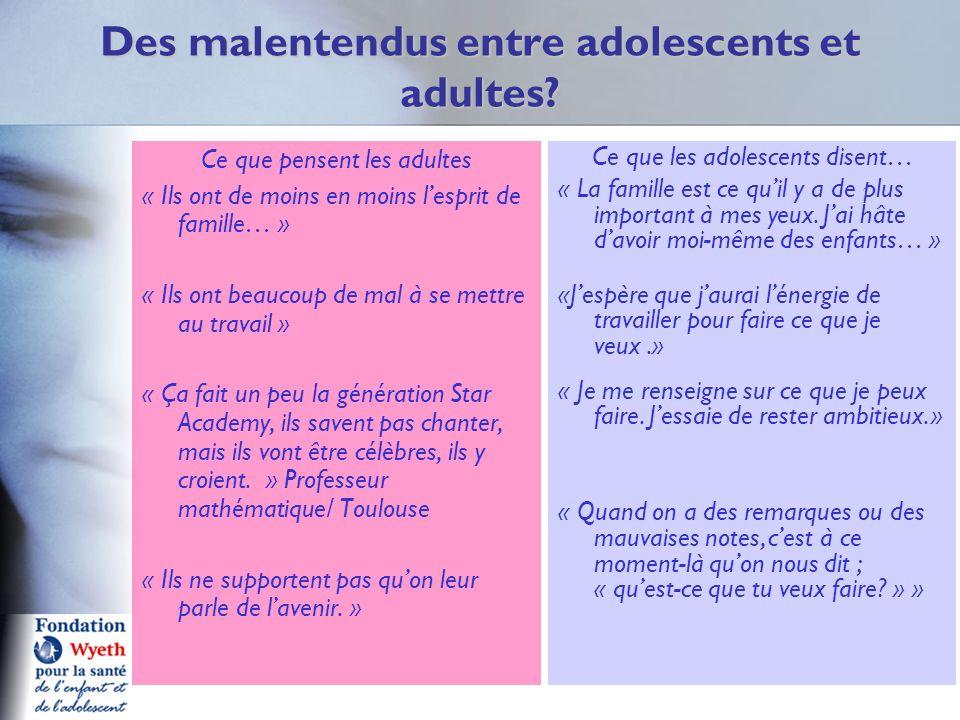 Des malentendus entre adolescents et adultes