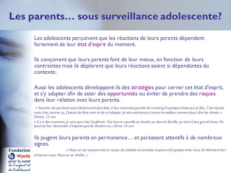 Les parents… sous surveillance adolescente